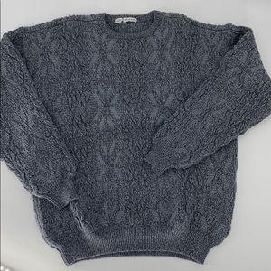 Giorgio Armani gray wool alpaca blend sweater M